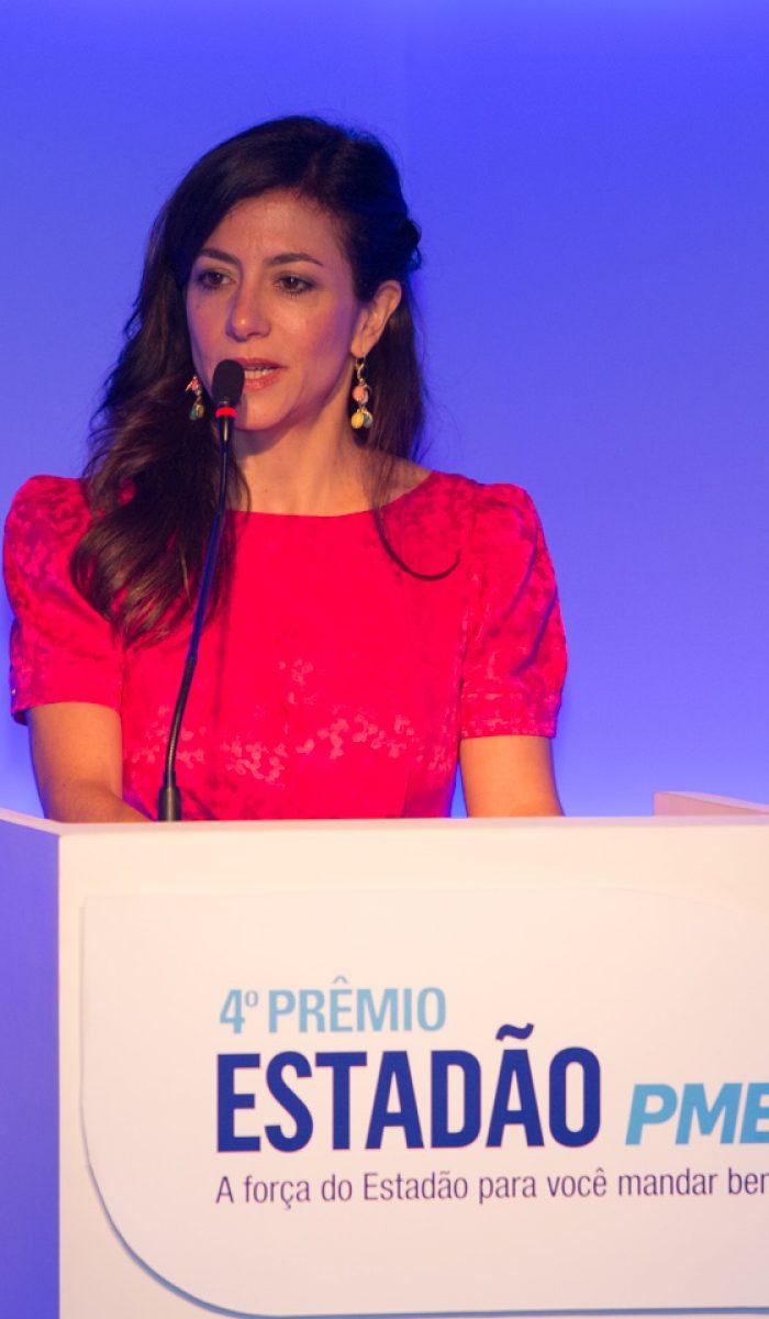 Marina Person (MC do 4º Prêmio EstadãoPME)